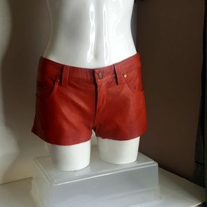 Free People faux leather linned Shorts size 0